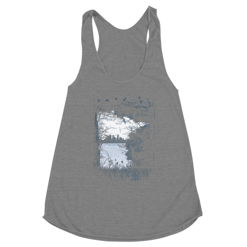 MN Hidden Treasures Women's Racerback Triblend Tank by Logo Mo Doodles, Drawings, and Designs