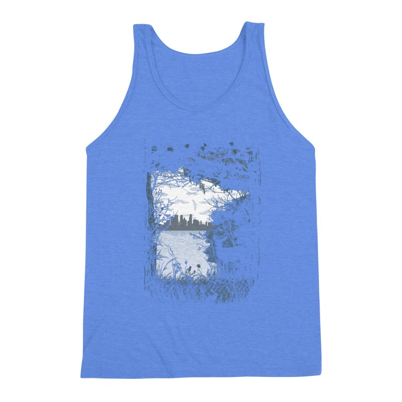 MN Hidden Treasures Men's Triblend Tank by Logo Mo Doodles, Drawings, and Designs