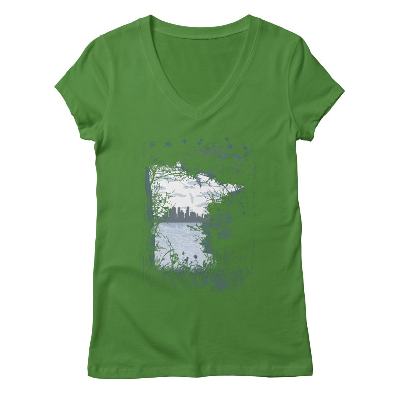 MN Hidden Treasures Women's Regular V-Neck by Logo Mo Doodles, Drawings, and Designs