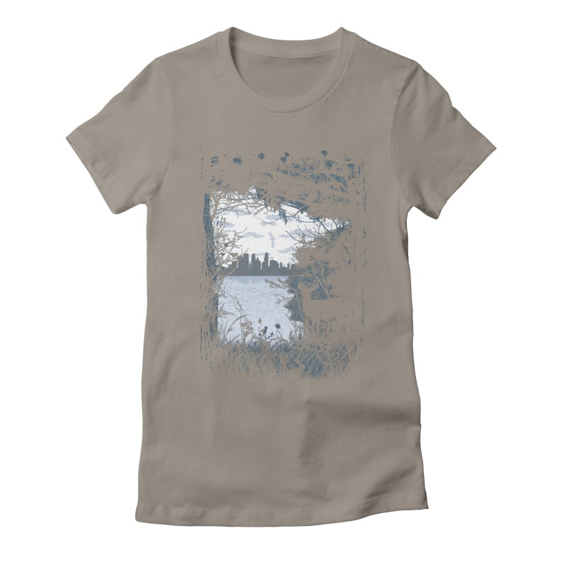 MN Hidden Treasures Women's Fitted T-Shirt by Logo Mo Doodles, Drawings, and Designs