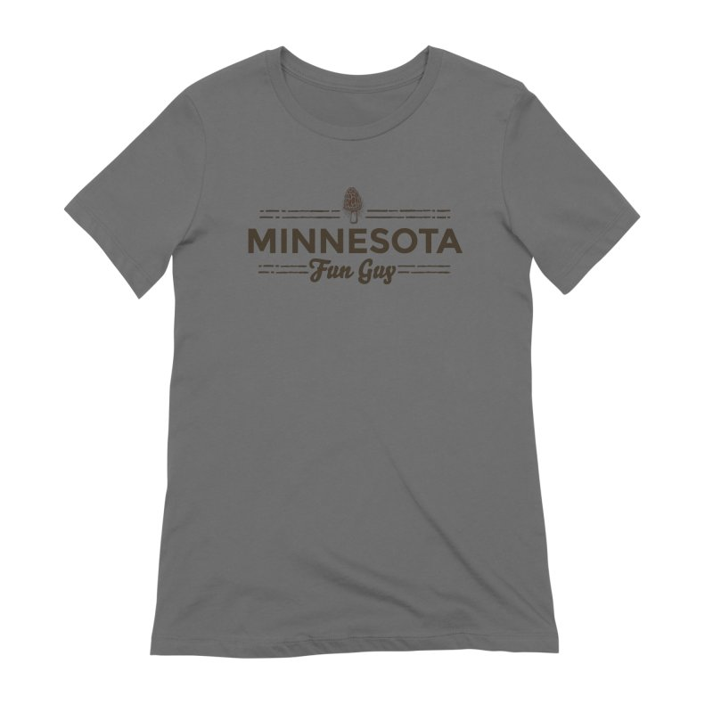 """MN Fun Guy """"Fungi"""" (dark brown) Women's Extra Soft T-Shirt by Logo Mo Doodles, Drawings, and Designs"""