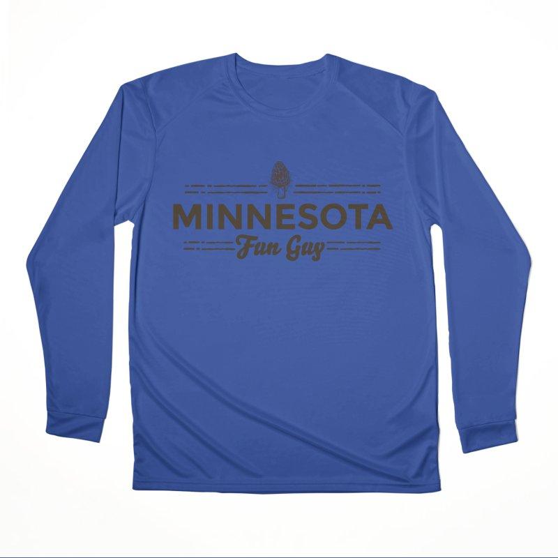 "MN Fun Guy ""Fungi"" (dark brown) Men's Performance Longsleeve T-Shirt by Logo Mo Doodles, Drawings, and Designs"