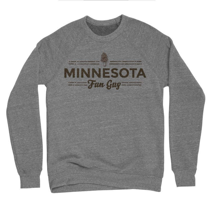 "MN Fun Guy ""Fungi"" (dark brown) Men's Sponge Fleece Sweatshirt by Logo Mo Doodles, Drawings, and Designs"