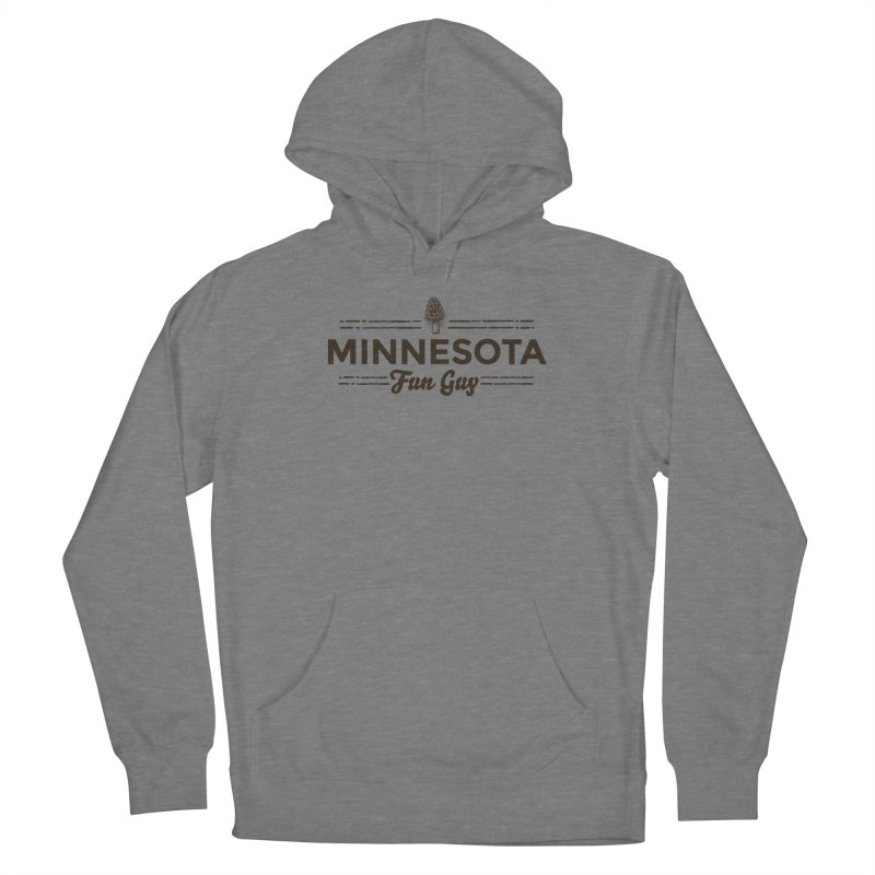 """MN Fun Guy """"Fungi"""" (dark brown) Women's French Terry Pullover Hoody by Logo Mo Doodles, Drawings, and Designs"""