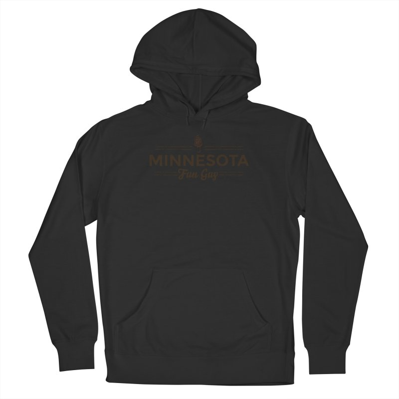 """MN Fun Guy """"Fungi"""" (dark brown) Men's French Terry Pullover Hoody by Logo Mo Doodles, Drawings, and Designs"""