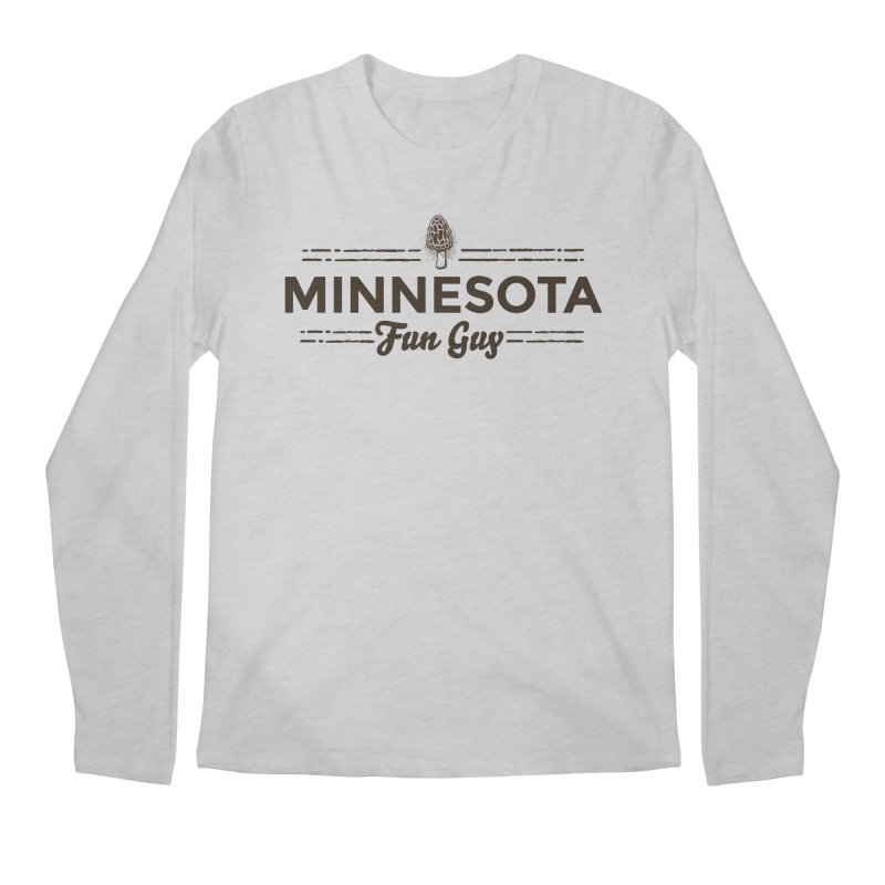 "MN Fun Guy ""Fungi"" (dark brown) Men's Regular Longsleeve T-Shirt by Logo Mo Doodles, Drawings, and Designs"