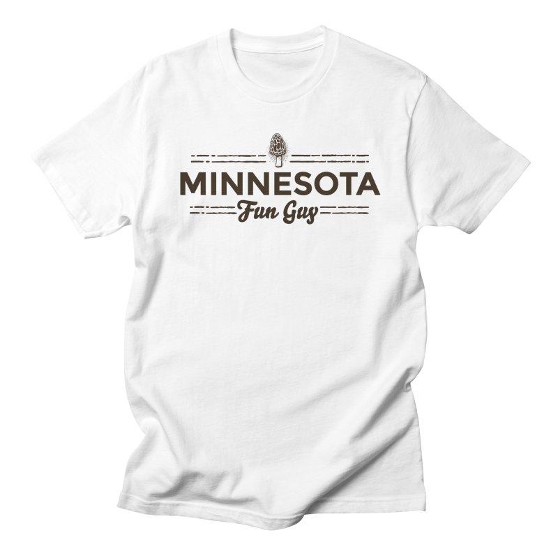 """MN Fun Guy """"Fungi"""" (dark brown) Men's Regular T-Shirt by Logo Mo Doodles, Drawings, and Designs"""