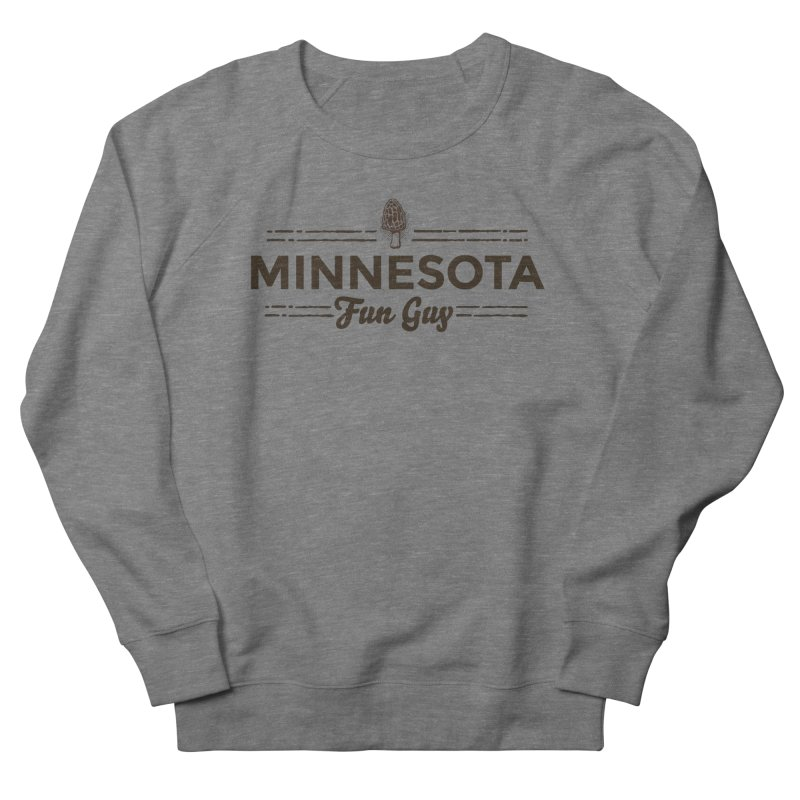 "MN Fun Guy ""Fungi"" (dark brown) Men's French Terry Sweatshirt by Logo Mo Doodles, Drawings, and Designs"