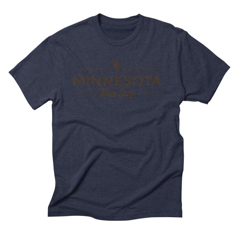 "MN Fun Guy ""Fungi"" (dark brown) Men's Triblend T-Shirt by Logo Mo Doodles, Drawings, and Designs"