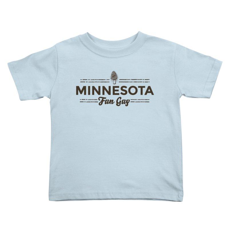 "MN Fun Guy ""Fungi"" (dark brown) Kids Toddler T-Shirt by Logo Mo Doodles, Drawings, and Designs"