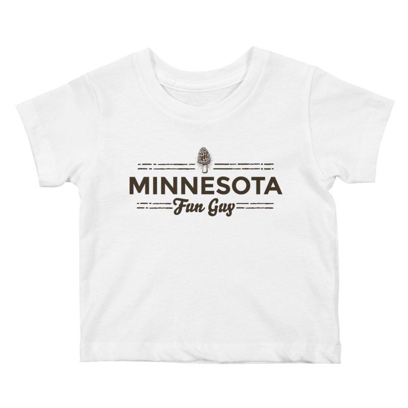 "MN Fun Guy ""Fungi"" (dark brown) Kids Baby T-Shirt by Logo Mo Doodles, Drawings, and Designs"
