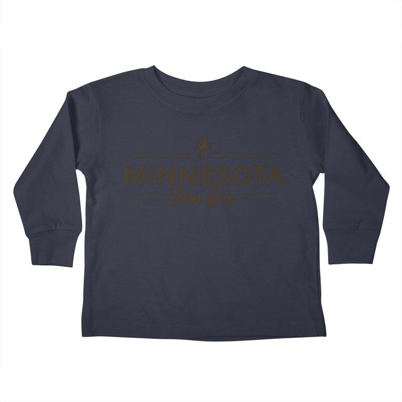 "MN Fun Guy ""Fungi"" (dark brown) Kids Toddler Longsleeve T-Shirt by Logo Mo Doodles, Drawings, and Designs"