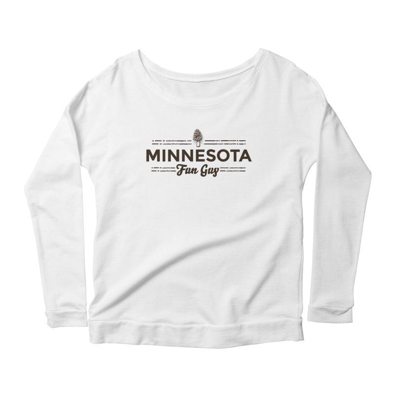 "MN Fun Guy ""Fungi"" (dark brown) Women's Scoop Neck Longsleeve T-Shirt by Logo Mo Doodles, Drawings, and Designs"
