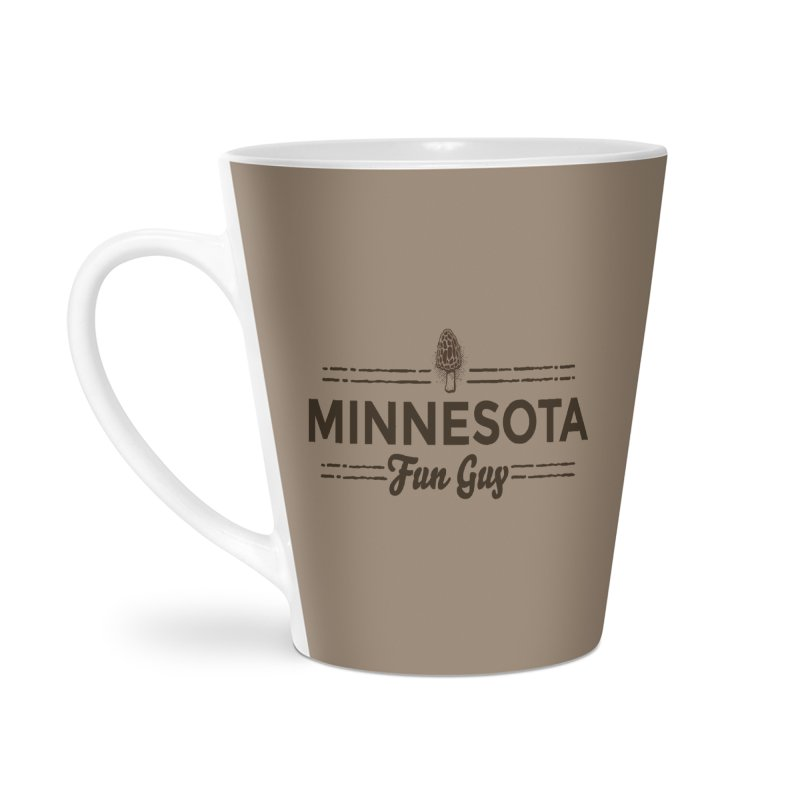 "MN Fun Guy ""Fungi"" (dark brown) Accessories Latte Mug by Logo Mo Doodles, Drawings, and Designs"