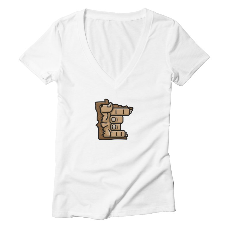 MN Rock On Sasquatch Hand Women's Deep V-Neck V-Neck by Logo Mo Doodles, Drawings, and Designs