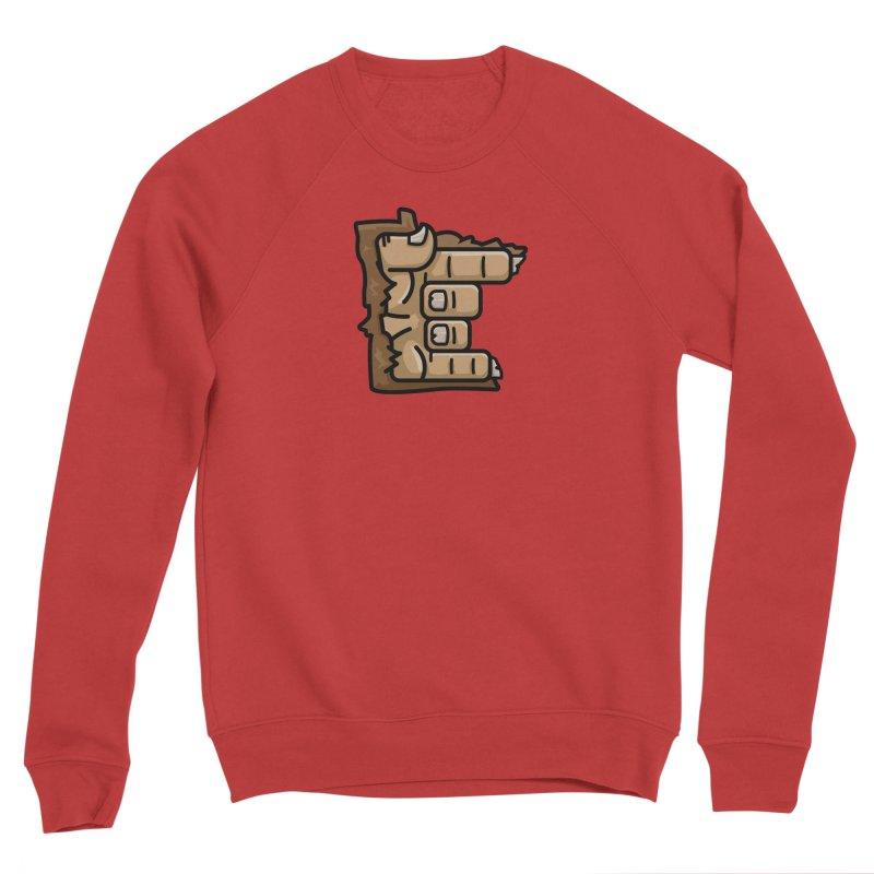 MN Rock On Sasquatch Hand Women's Sponge Fleece Sweatshirt by Logo Mo Doodles, Drawings, and Designs