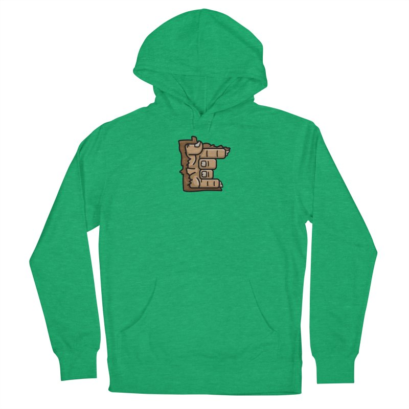 MN Rock On Sasquatch Hand Women's French Terry Pullover Hoody by Logo Mo Doodles, Drawings, and Designs