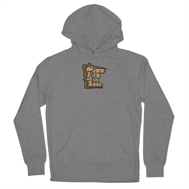 MN Rock On Sasquatch Hand Men's French Terry Pullover Hoody by Logo Mo Doodles, Drawings, and Designs