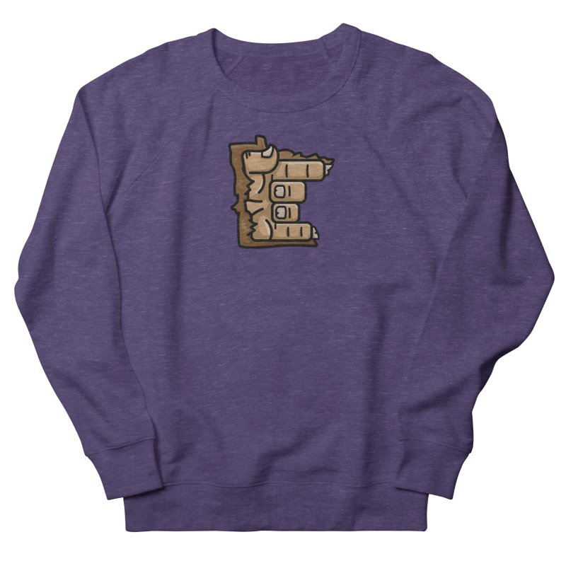 MN Rock On Sasquatch Hand Women's French Terry Sweatshirt by Logo Mo Doodles, Drawings, and Designs