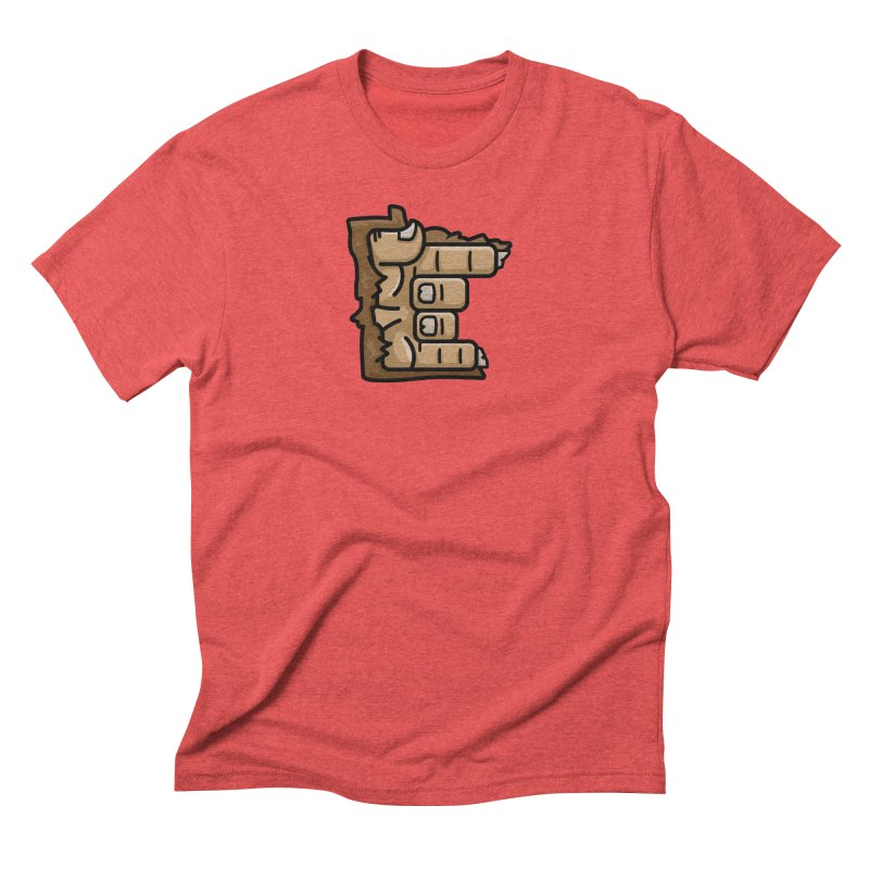 MN Rock On Sasquatch Hand Men's Triblend T-Shirt by Logo Mo Doodles, Drawings, and Designs
