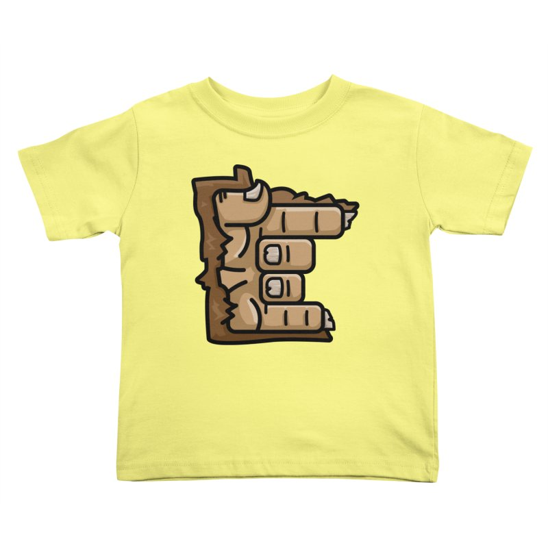 MN Rock On Sasquatch Hand Kids Toddler T-Shirt by Logo Mo Doodles, Drawings, and Designs