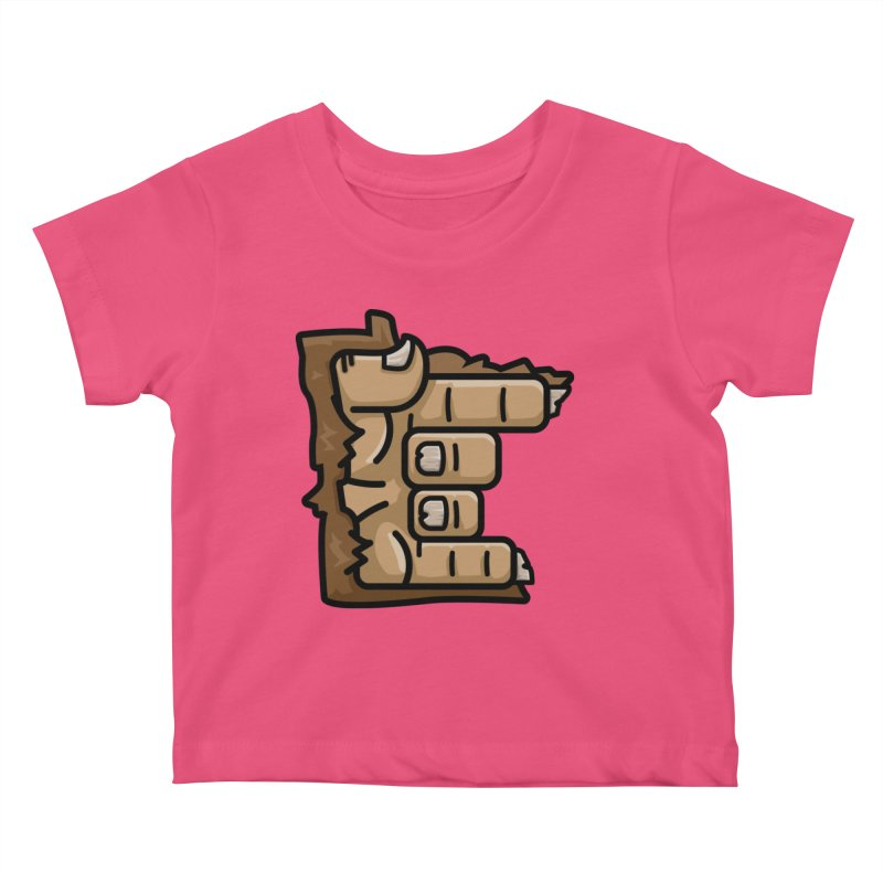 MN Rock On Sasquatch Hand Kids Baby T-Shirt by Logo Mo Doodles, Drawings, and Designs