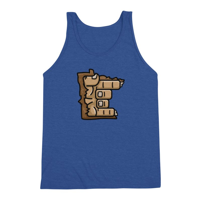 MN Rock On Sasquatch Hand Men's Triblend Tank by Logo Mo Doodles, Drawings, and Designs