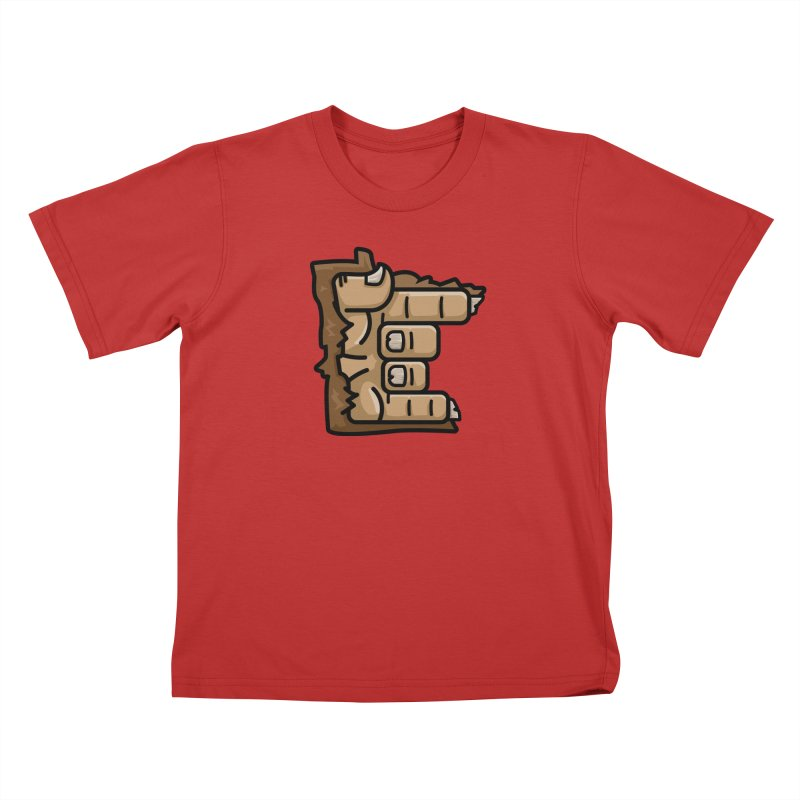 MN Rock On Sasquatch Hand Kids T-Shirt by Logo Mo Doodles, Drawings, and Designs