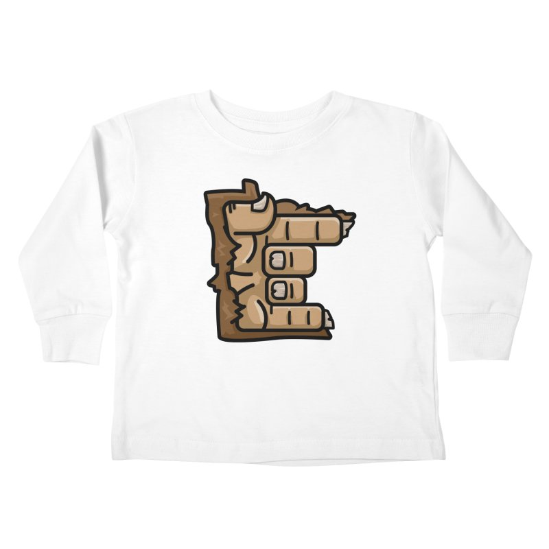 MN Rock On Sasquatch Hand Kids Toddler Longsleeve T-Shirt by Logo Mo Doodles, Drawings, and Designs