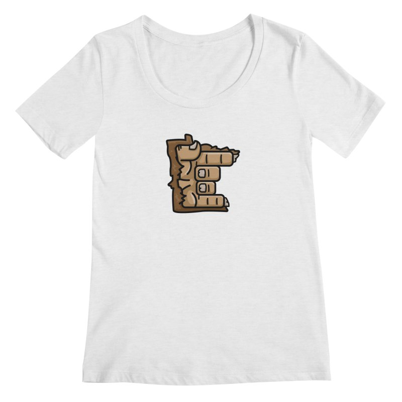 MN Rock On Sasquatch Hand Women's Regular Scoop Neck by Logo Mo Doodles, Drawings, and Designs