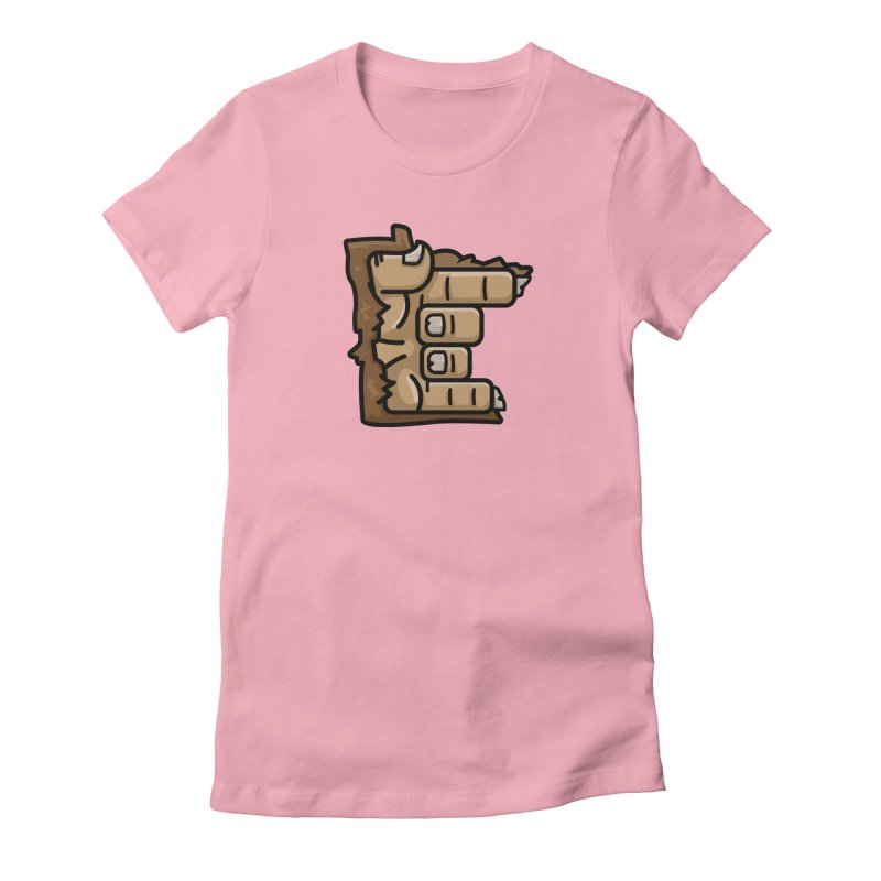 MN Rock On Sasquatch Hand Women's Fitted T-Shirt by Logo Mo Doodles, Drawings, and Designs