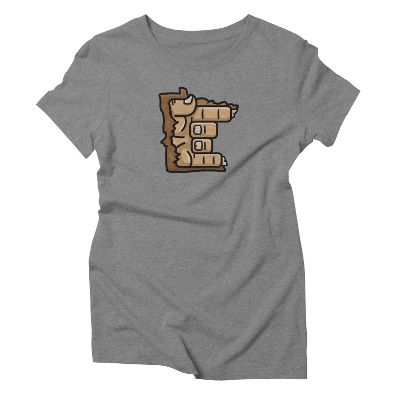 MN Rock On Sasquatch Hand Women's Triblend T-Shirt by Logo Mo Doodles, Drawings, and Designs