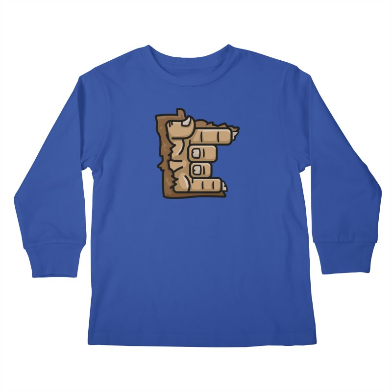 MN Rock On Sasquatch Hand Kids Longsleeve T-Shirt by Logo Mo Doodles, Drawings, and Designs