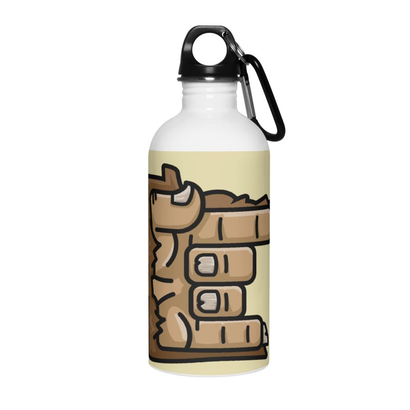 MN Rock On Sasquatch Hand Accessories Water Bottle by Logo Mo Doodles, Drawings, and Designs