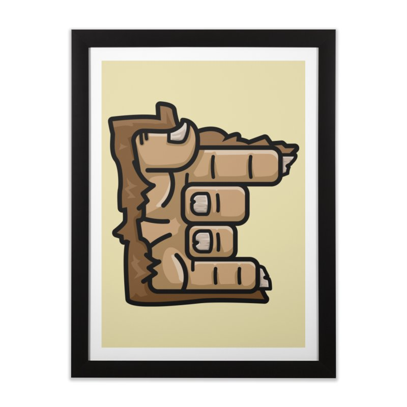 MN Rock On Sasquatch Hand Home Framed Fine Art Print by Logo Mo Doodles, Drawings, and Designs