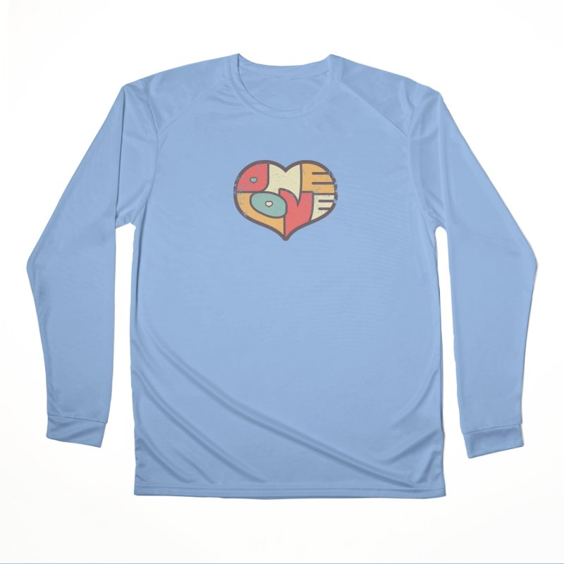 One Love (colorful) Men's Longsleeve T-Shirt by Logo Mo Doodles, Drawings, and Designs