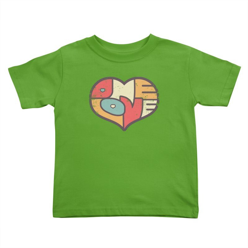 One Love (colorful) Kids Toddler T-Shirt by Logo Mo Doodles, Drawings, and Designs