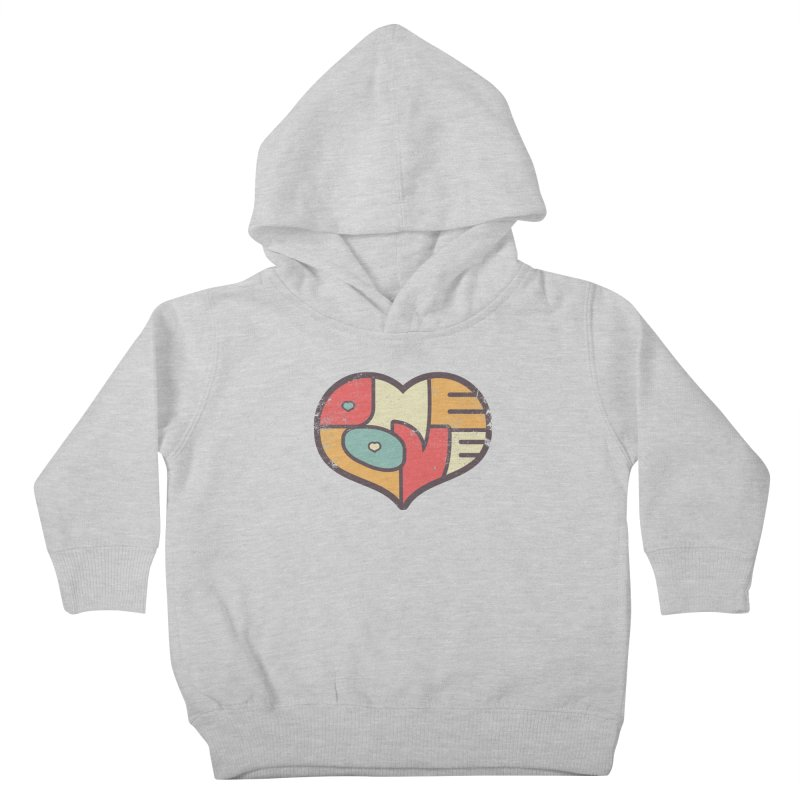 One Love (colorful) Kids Toddler Pullover Hoody by Logo Mo Doodles, Drawings, and Designs