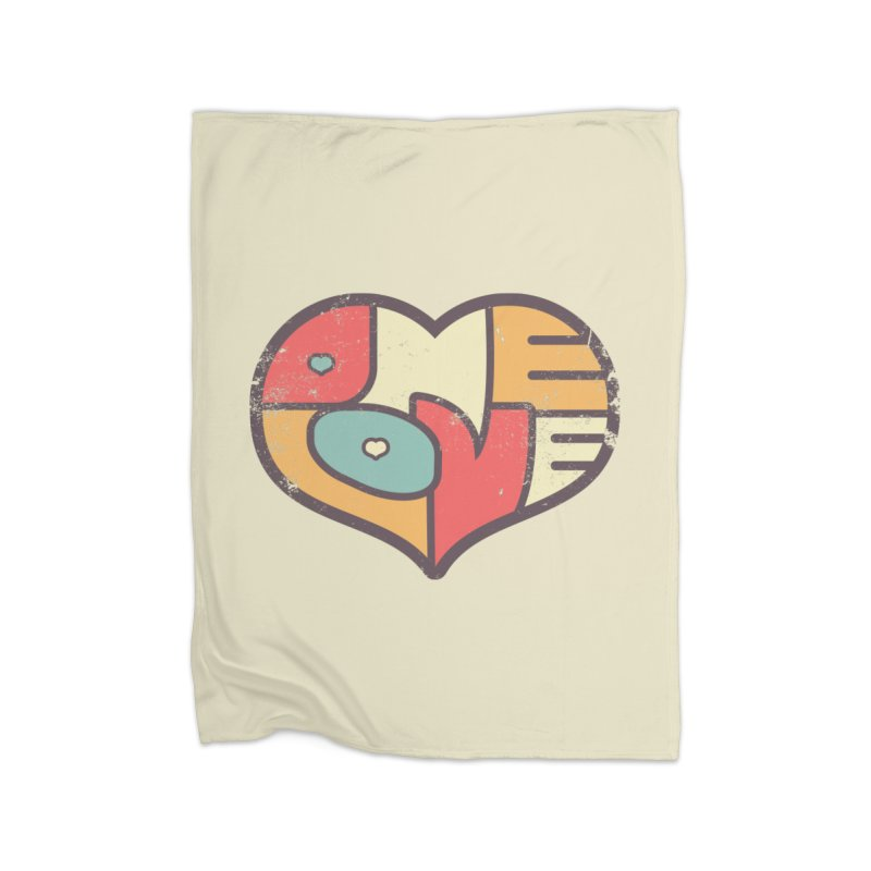 One Love (colorful) Home Blanket by Logo Mo Doodles, Drawings, and Designs