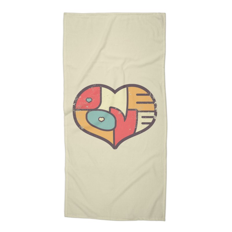 One Love (colorful) Accessories Beach Towel by Logo Mo Doodles, Drawings, and Designs