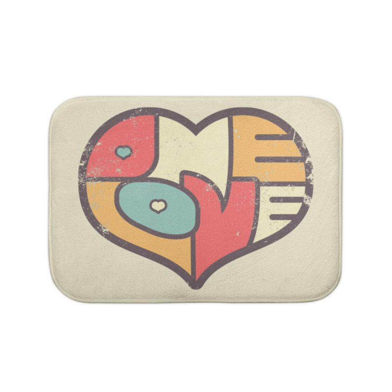 One Love (colorful) Home Bath Mat by Logo Mo Doodles, Drawings, and Designs