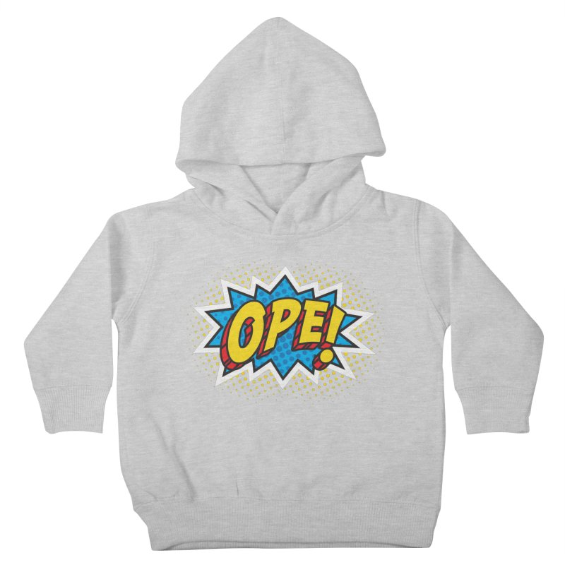 Ope Burst Kids Toddler Pullover Hoody by Logo Mo Doodles, Drawings, and Designs