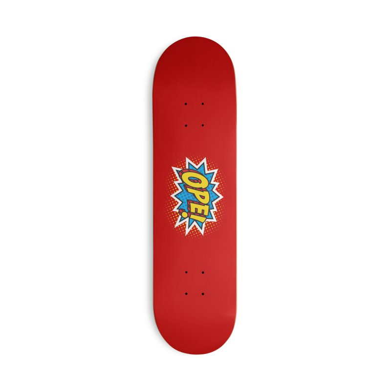 Ope Burst Accessories Skateboard by Logo Mo Doodles, Drawings, and Designs