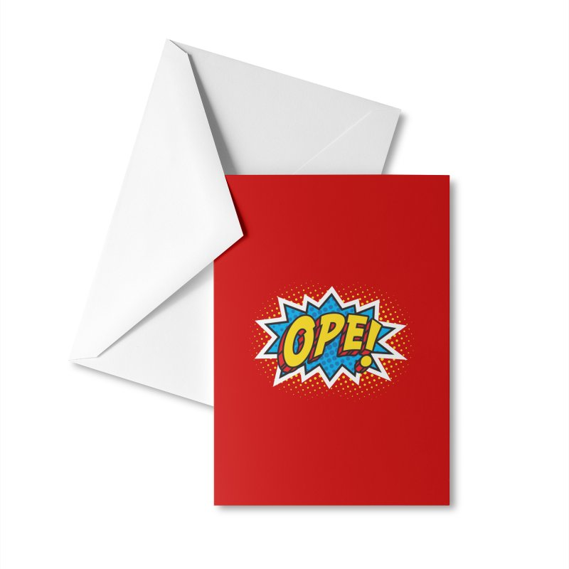 Ope Burst Accessories Greeting Card by Logo Mo Doodles, Drawings, and Designs