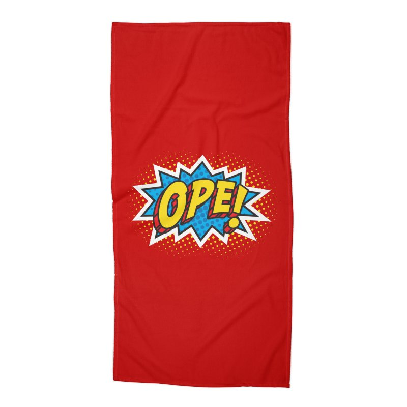 Ope Burst Accessories Beach Towel by Logo Mo Doodles, Drawings, and Designs