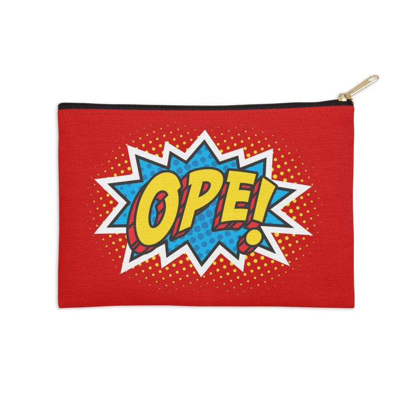 Ope Burst Accessories Zip Pouch by Logo Mo Doodles, Drawings, and Designs