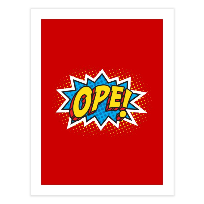 Ope Burst Home Fine Art Print by Logo Mo Doodles, Drawings, and Designs