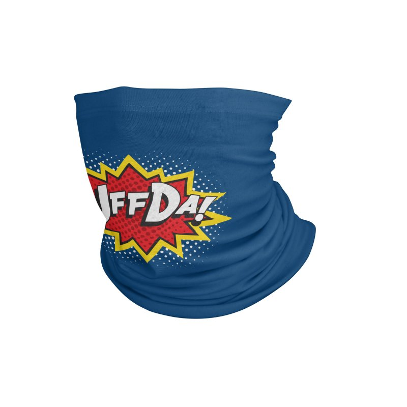 Uffda Burst Accessories Neck Gaiter by Logo Mo Doodles, Drawings, and Designs