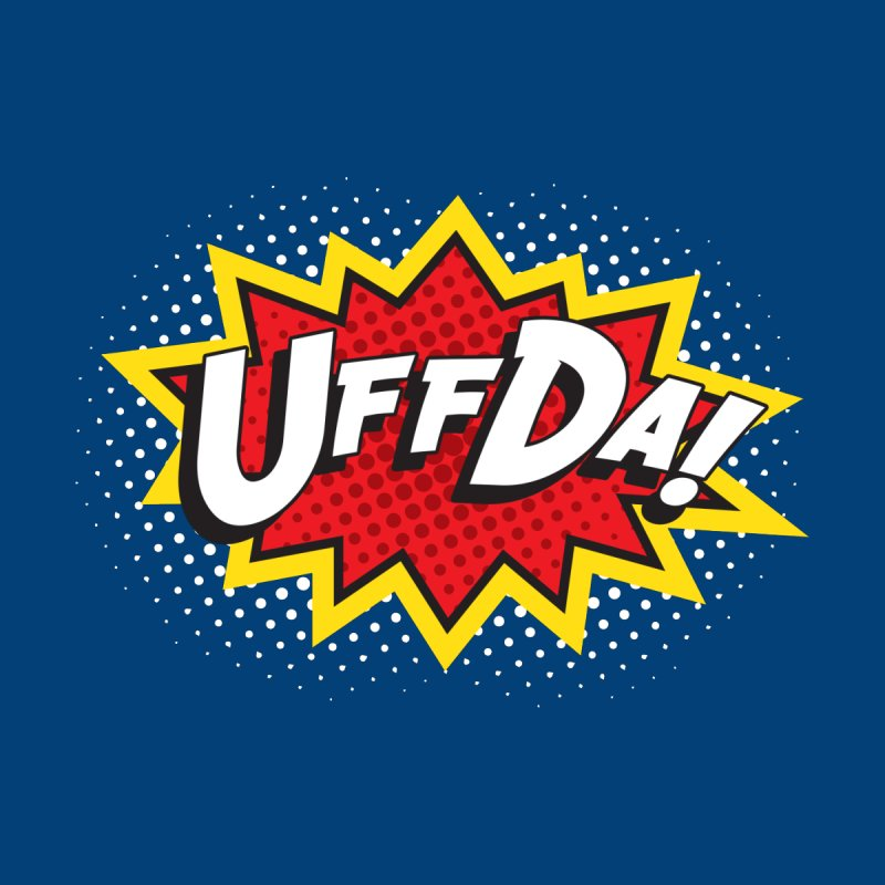 Uffda Burst Men's Sweatshirt by Logo Mo Doodles, Drawings, and Designs