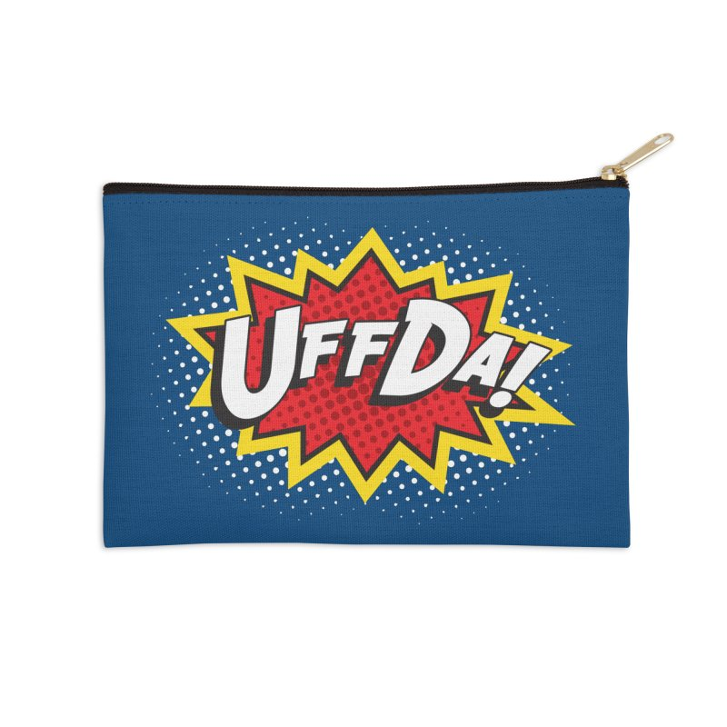 Uffda Burst Accessories Zip Pouch by Logo Mo Doodles, Drawings, and Designs
